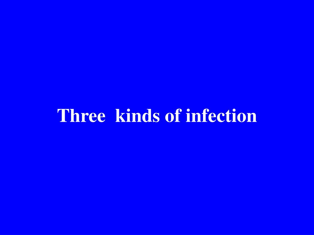 Three  kinds of infection