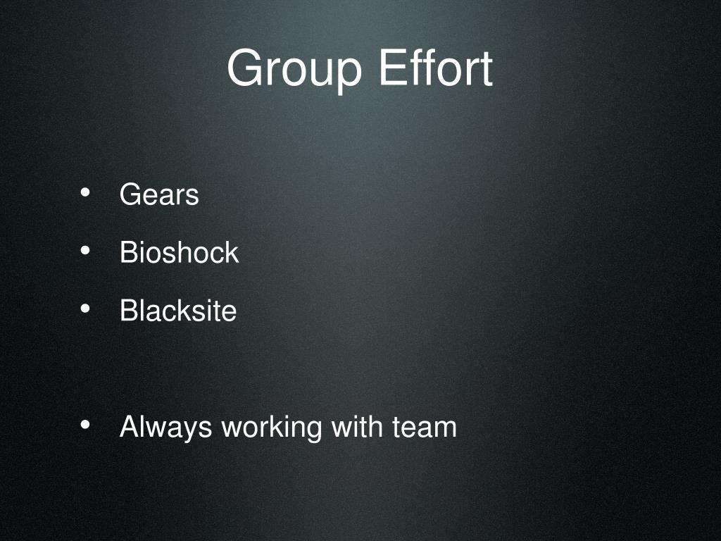 Group Effort