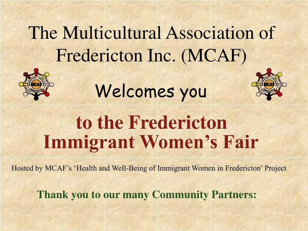 the multicultural association of fredericton inc mcaf l.