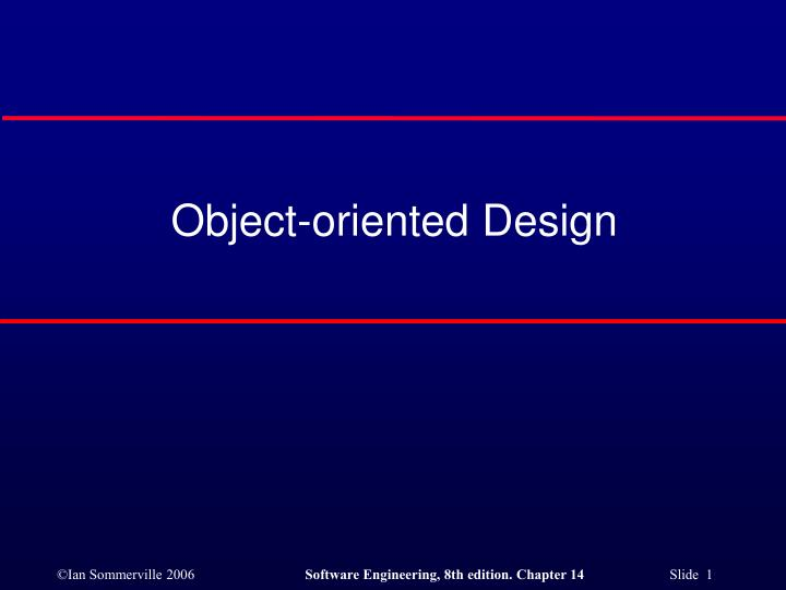 object oriented design n.