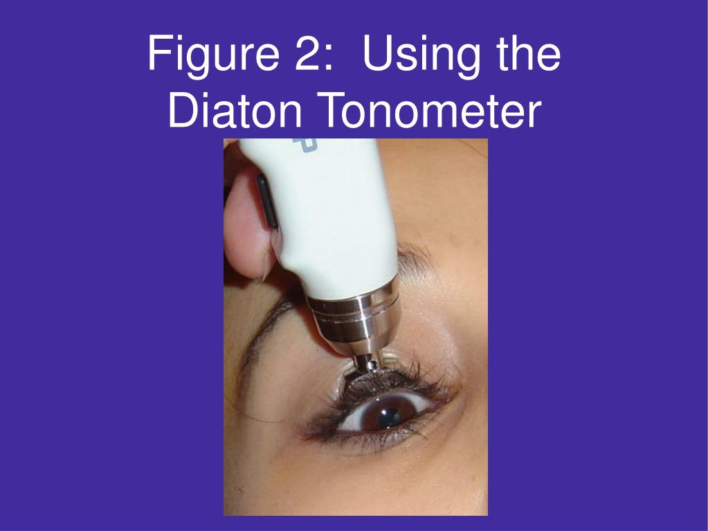 Figure 2:  Using the Diaton Tonometer