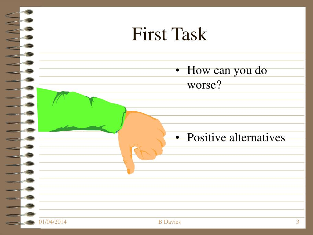 First Task
