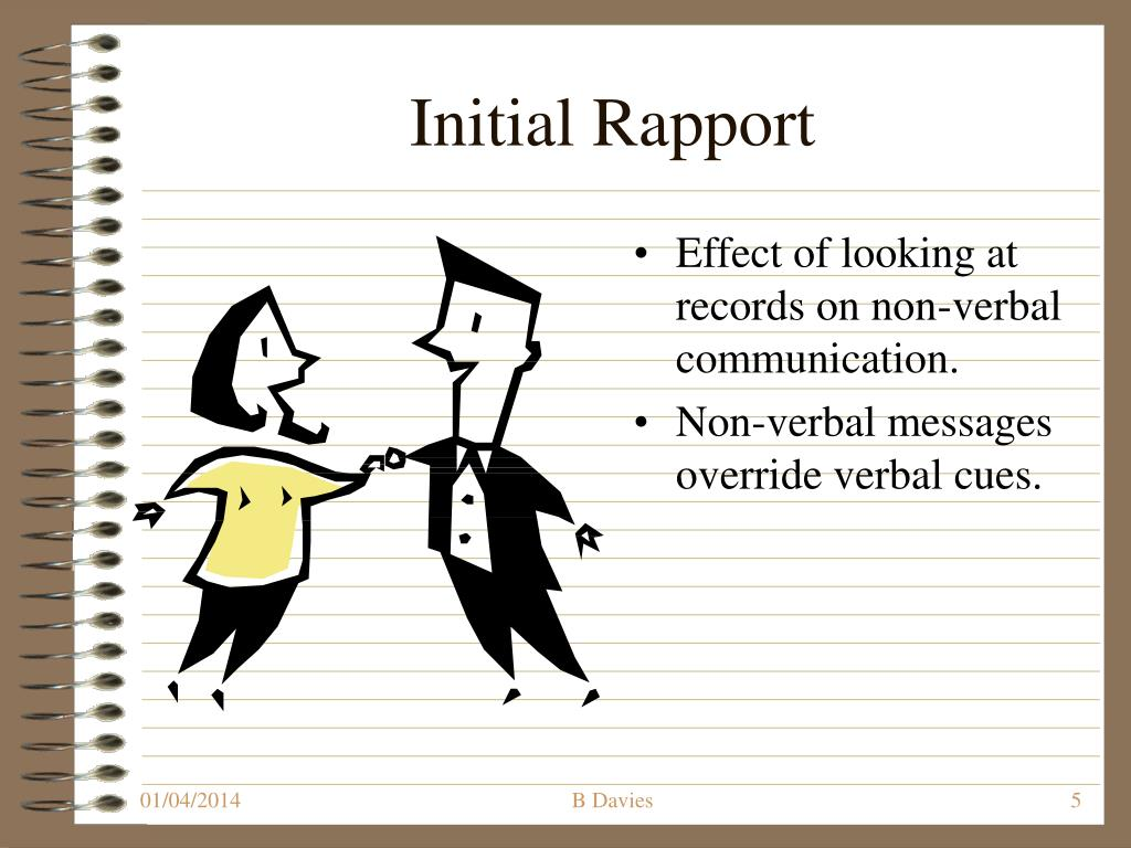Initial Rapport