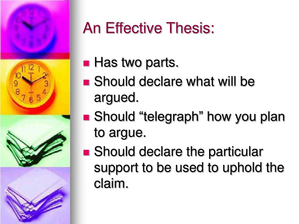 An Effective Thesis: