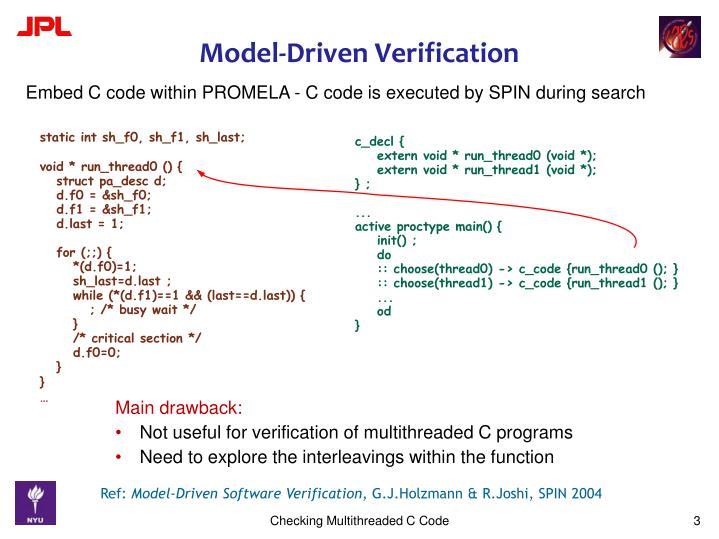 Model driven verification