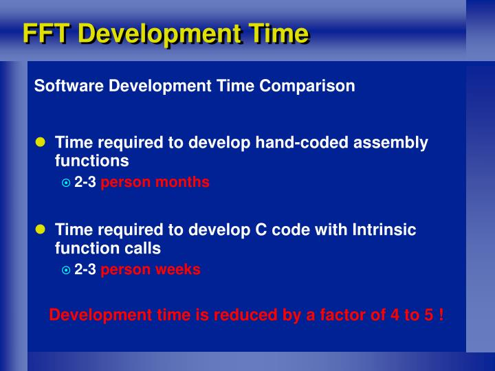 FFT Development Time