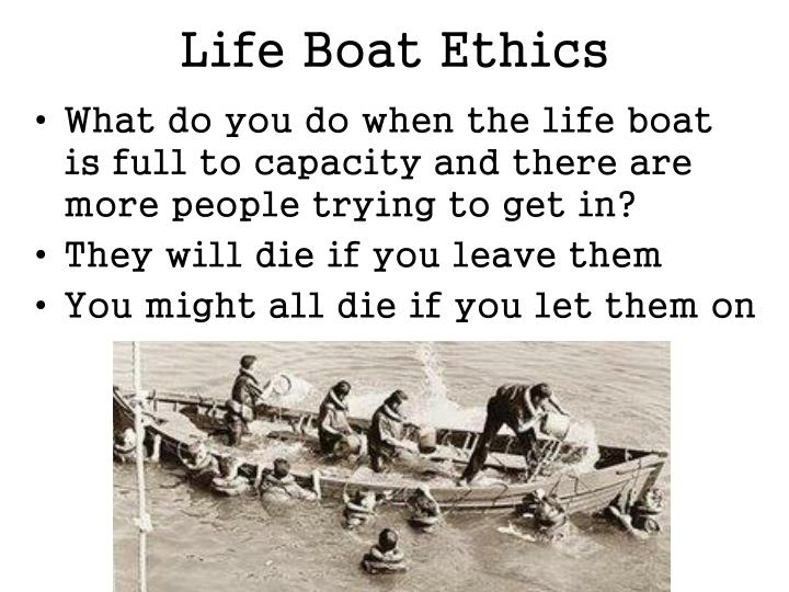 lifeboat ethics rhetorical analysis Lifeboat and the poorer states are people in the water (lifeboat ethics hardin) if people onboard provide unlimited admission, the boat would be overloaded and sink.