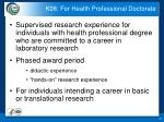 k08 for health professional doctorate