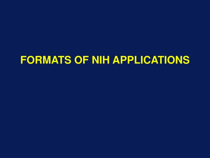 Ppt formats of nih applications powerpoint presentation id591876 formats of nih applications thecheapjerseys Gallery