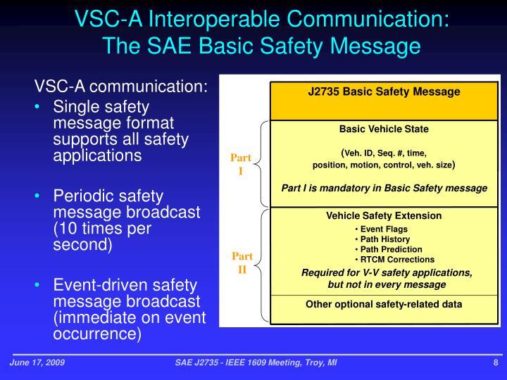 VSC-A Interoperable Communication: