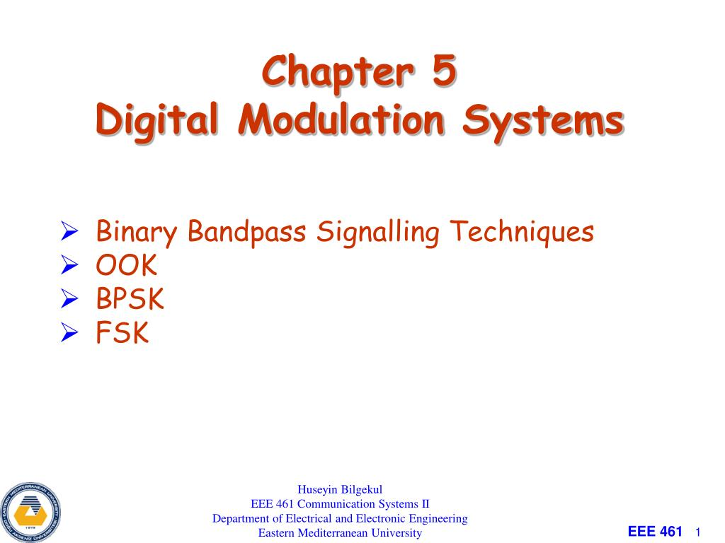 PPT - Chapter 5 Digital Modulation Systems PowerPoint Presentation