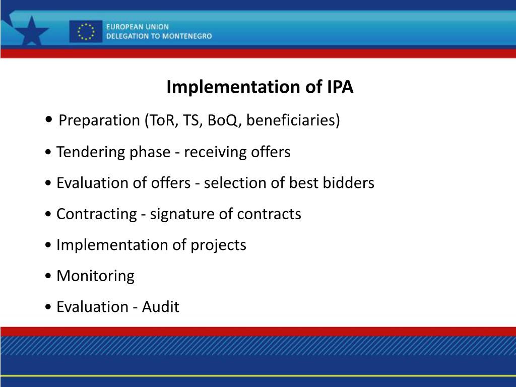 Implementation of IPA
