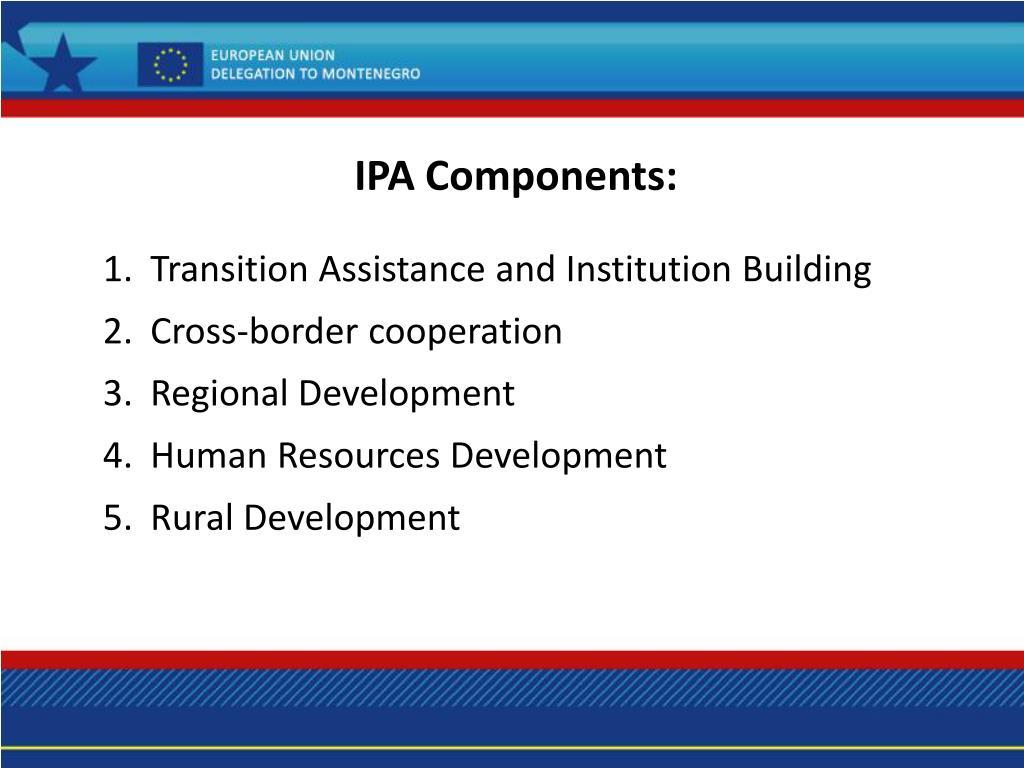 IPA Components: