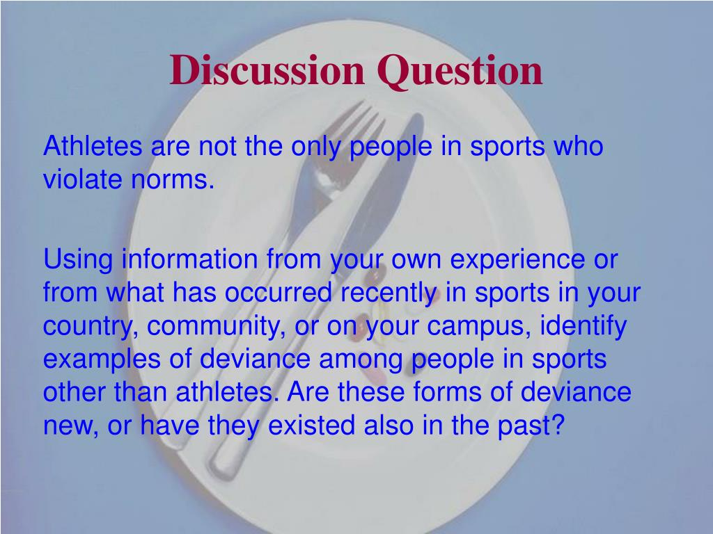 deviance in professional sports Deviant overconformity in sports implications of deviance in sport 25/05/2012 2 deviance in sport difficulties associated with studying deviance – deviance in sport can not be described by a single theory  professional sport leagues, ncaa, high schools.