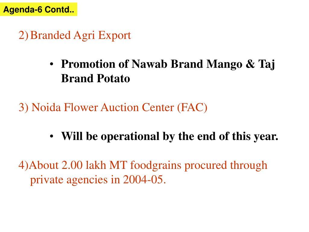 Agenda-6 Contd..
