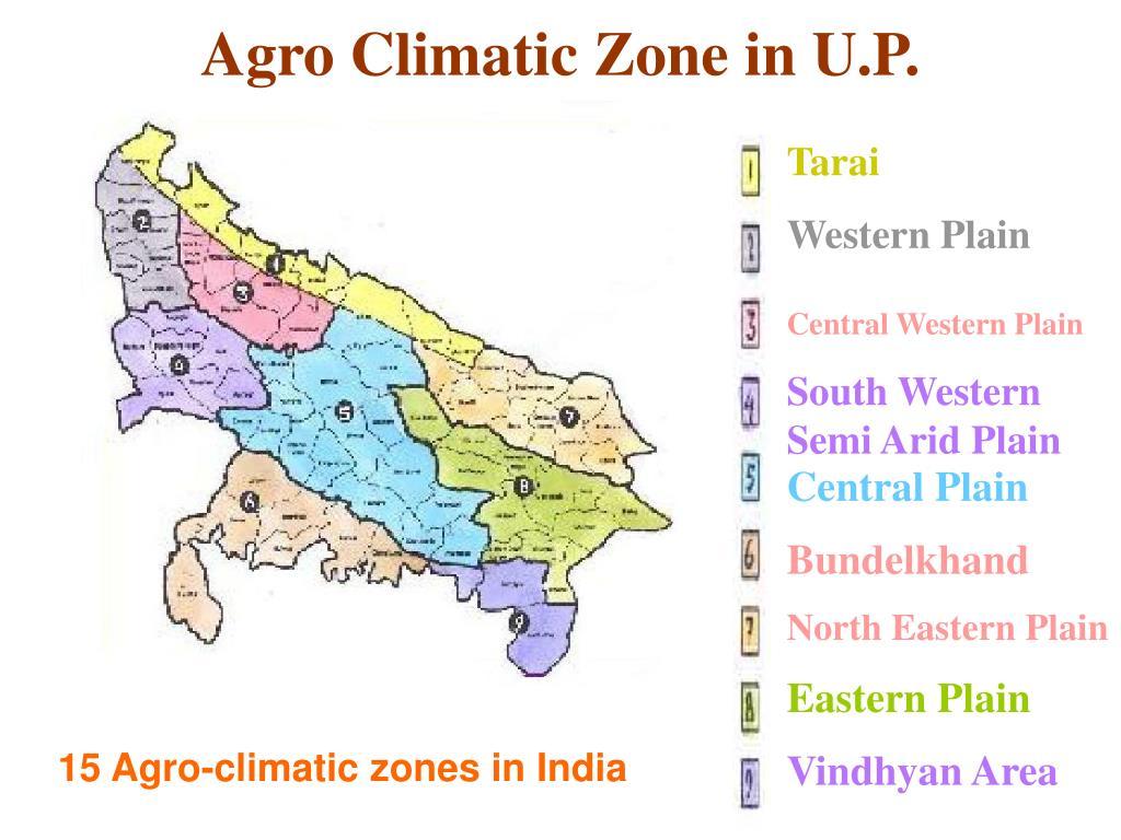 Agro Climatic Zone in U.P.