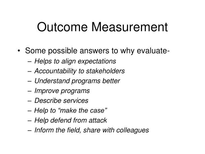 Outcome measurement1