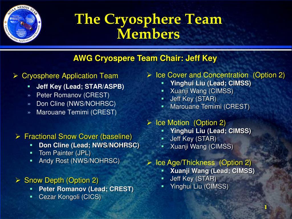 the cryosphere team members l.