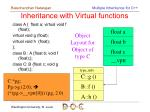 inheritance with virtual functions