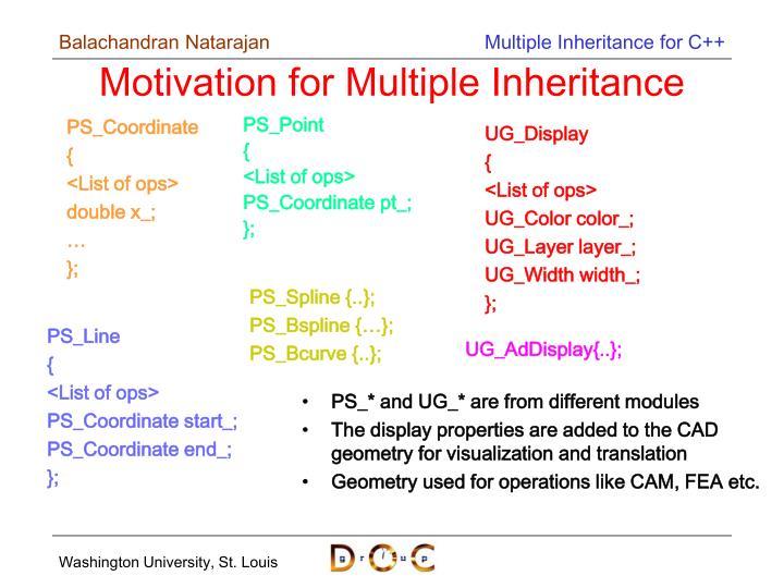 Motivation for multiple inheritance