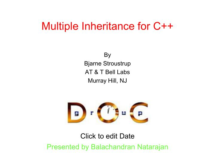 multiple inheritance for c n.