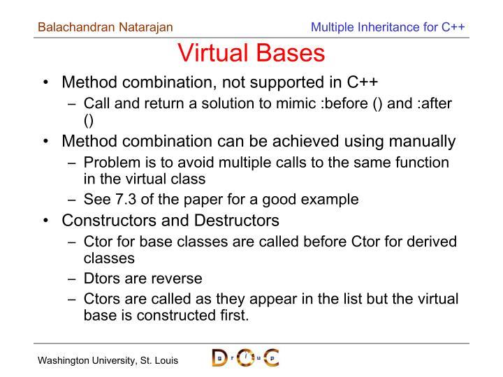Virtual Bases