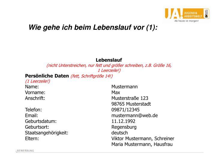 PPT - Schriftliche Bewerbung - Deckblatt, Anschreiben, Lebenslauf ...
