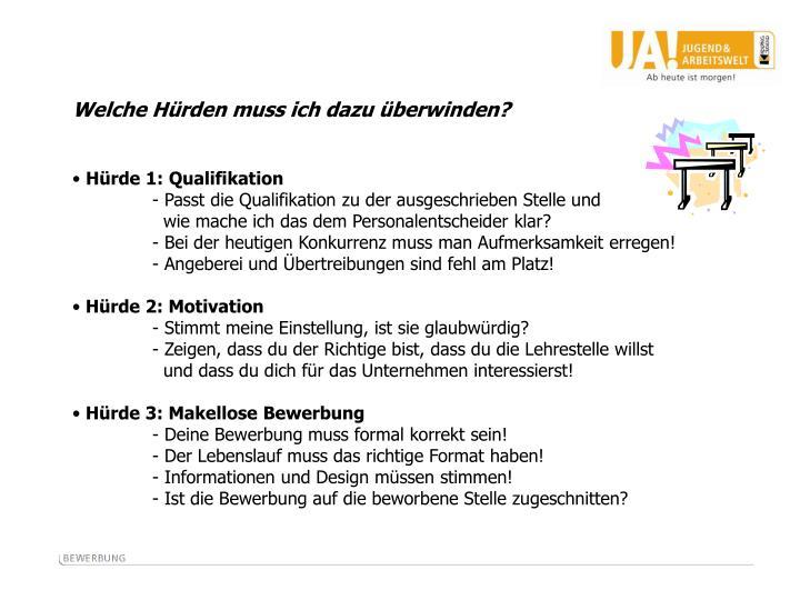 hrde 1 qualifikation - Lebenslauf Qualifikationen