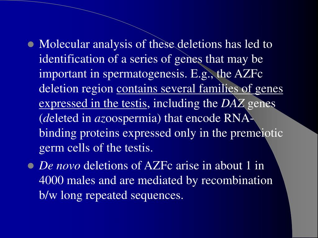 azf deletions y-chromosome sex linked traits in Cessnock