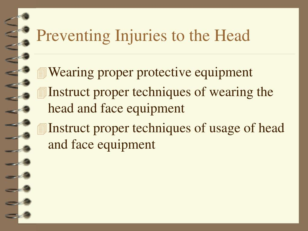 Preventing Injuries to the Head