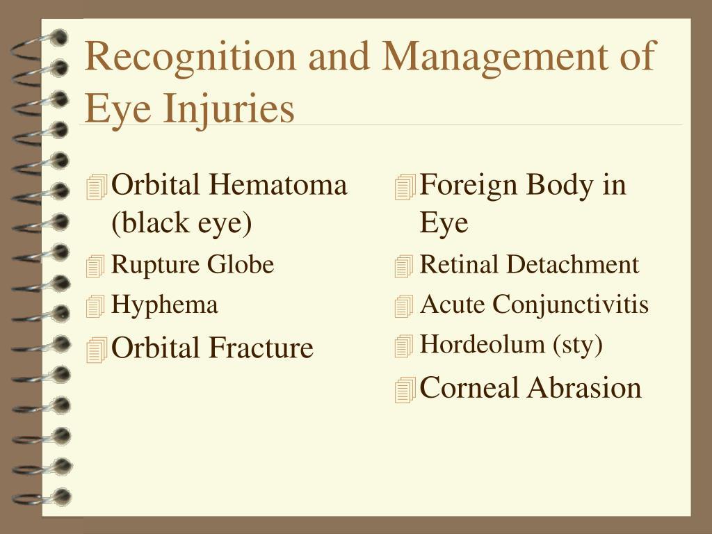 Orbital Hematoma (black eye)