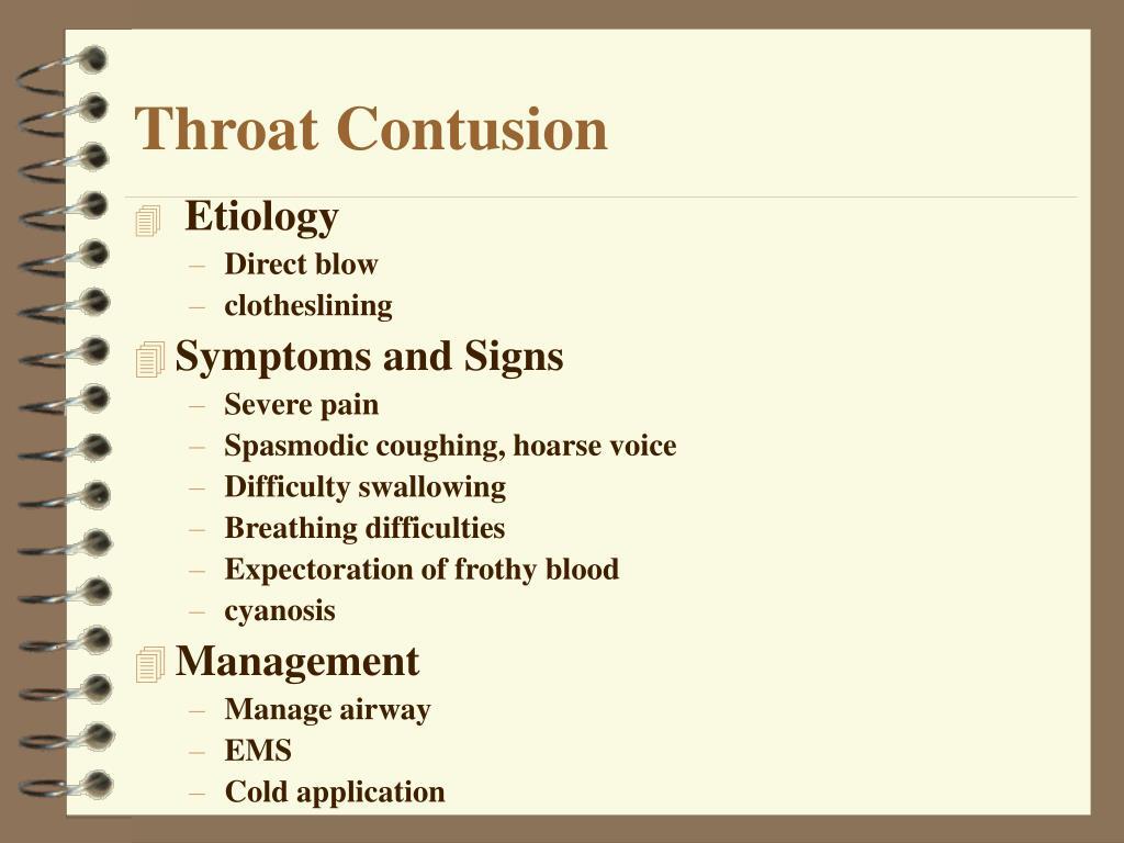 Throat Contusion