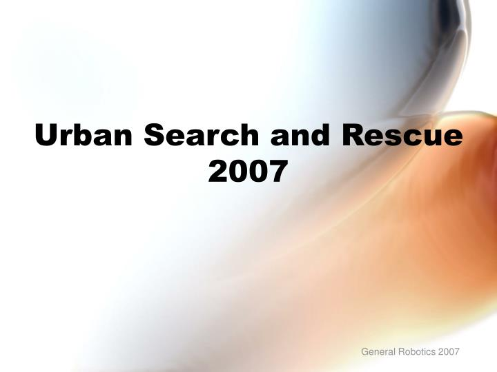 urban search and rescue 2007 n.