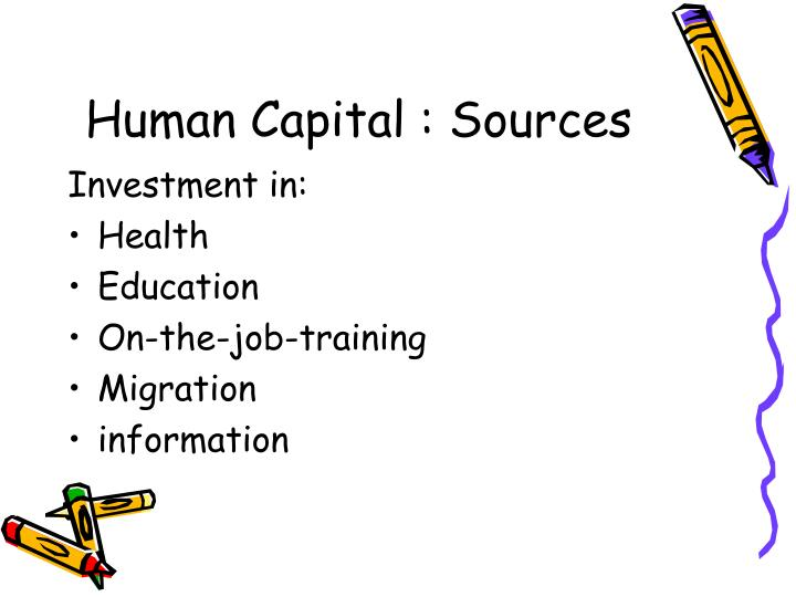 Human capital sources
