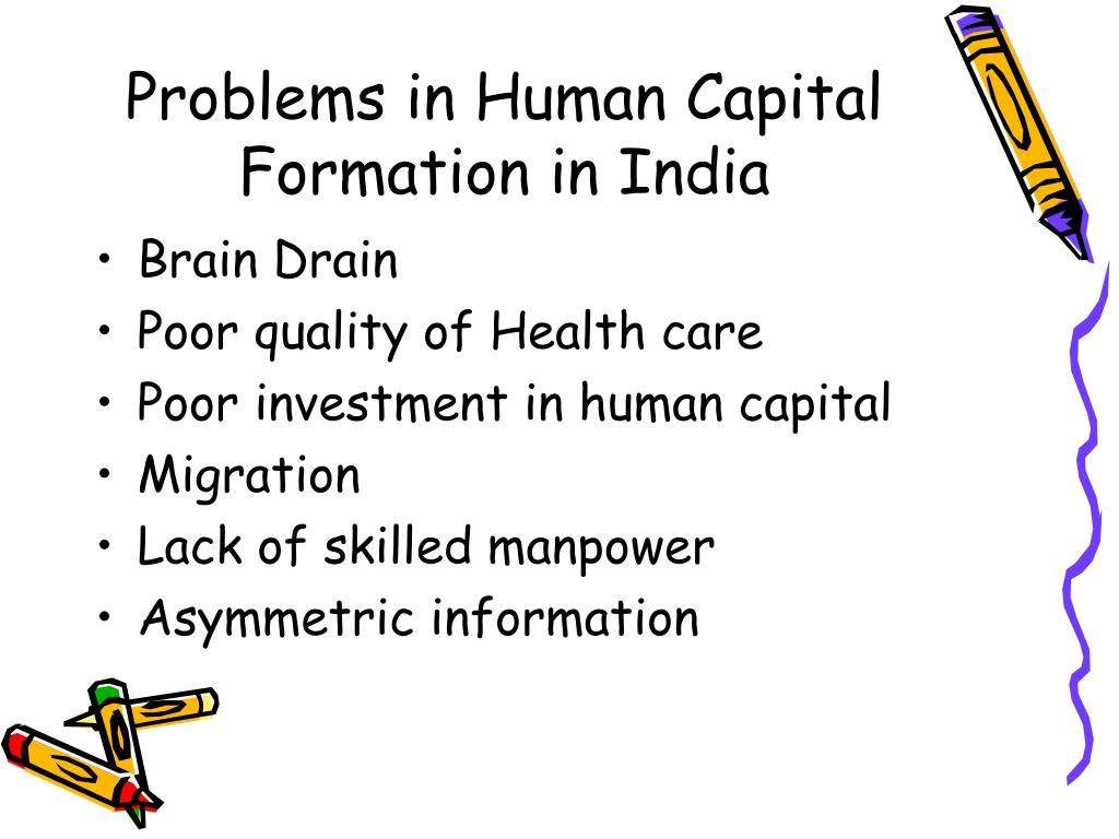 Problems in Human Capital Formation in India