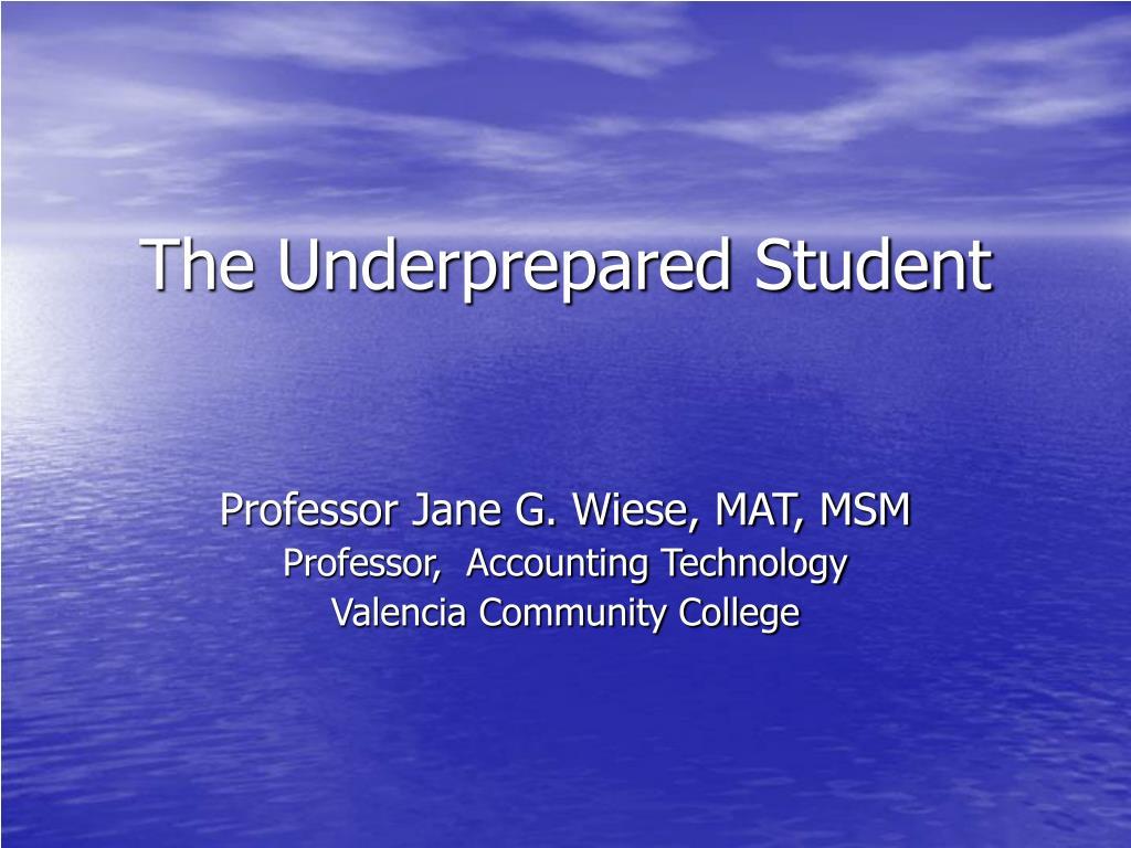 the underprepared student l.