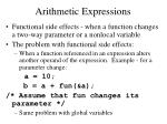 arithmetic expressions6
