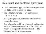 relational and boolean expressions2