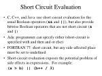 short circuit evaluation1