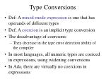 type conversions1