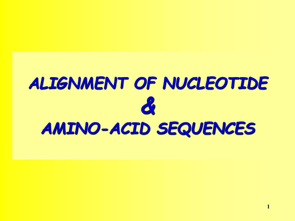 alignment of nucleotide amino acid sequences l.