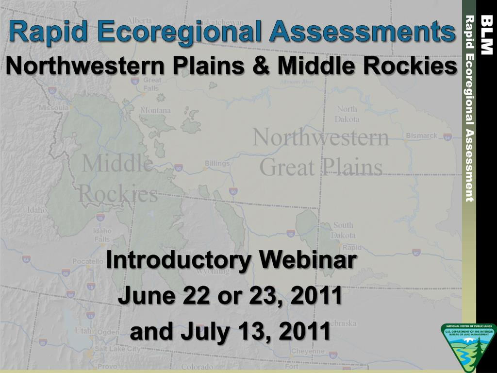 rapid ecoregional assessments l.