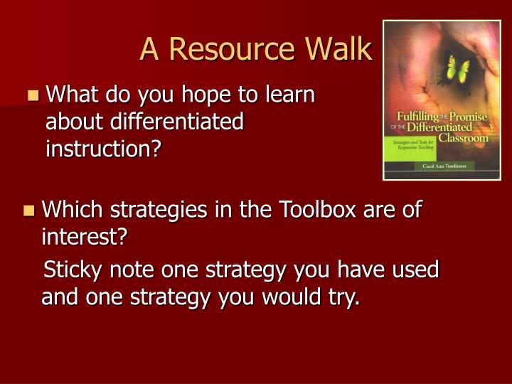A resource walk