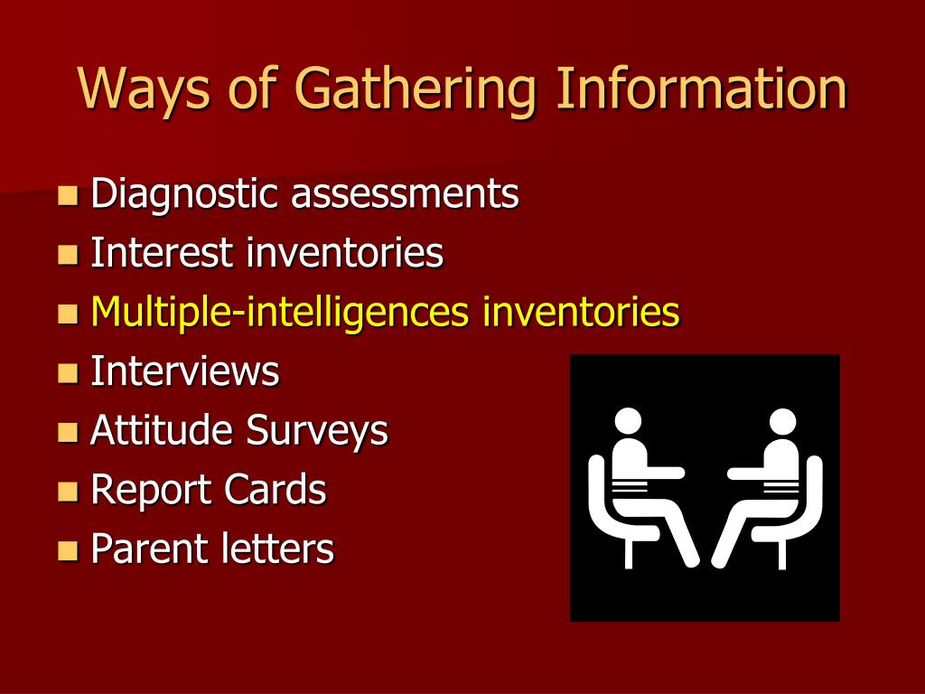 Ways of Gathering Information