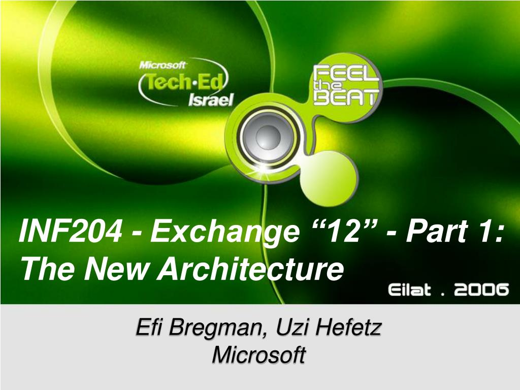 inf204 exchange 12 part 1 the new architecture l.