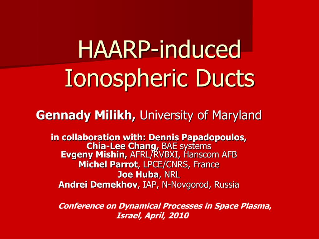 haarp induced ionospheric ducts l.