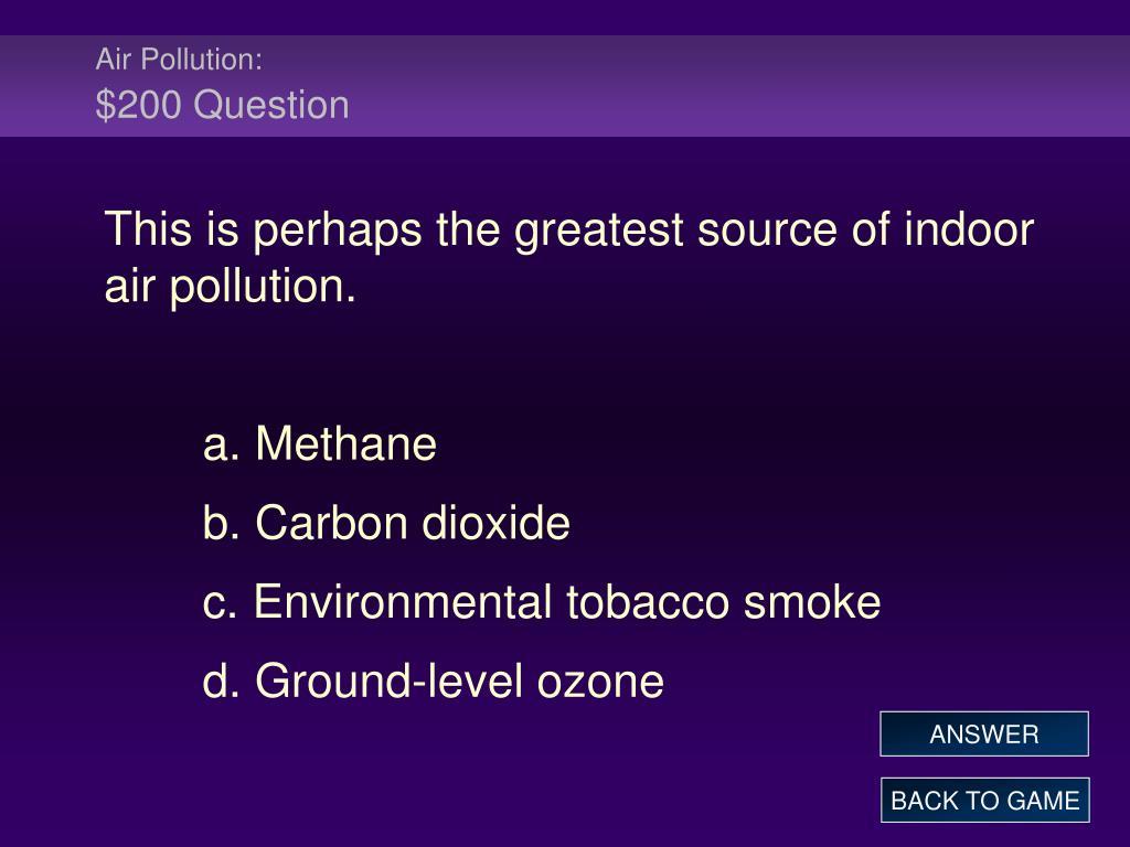 Air Pollution: