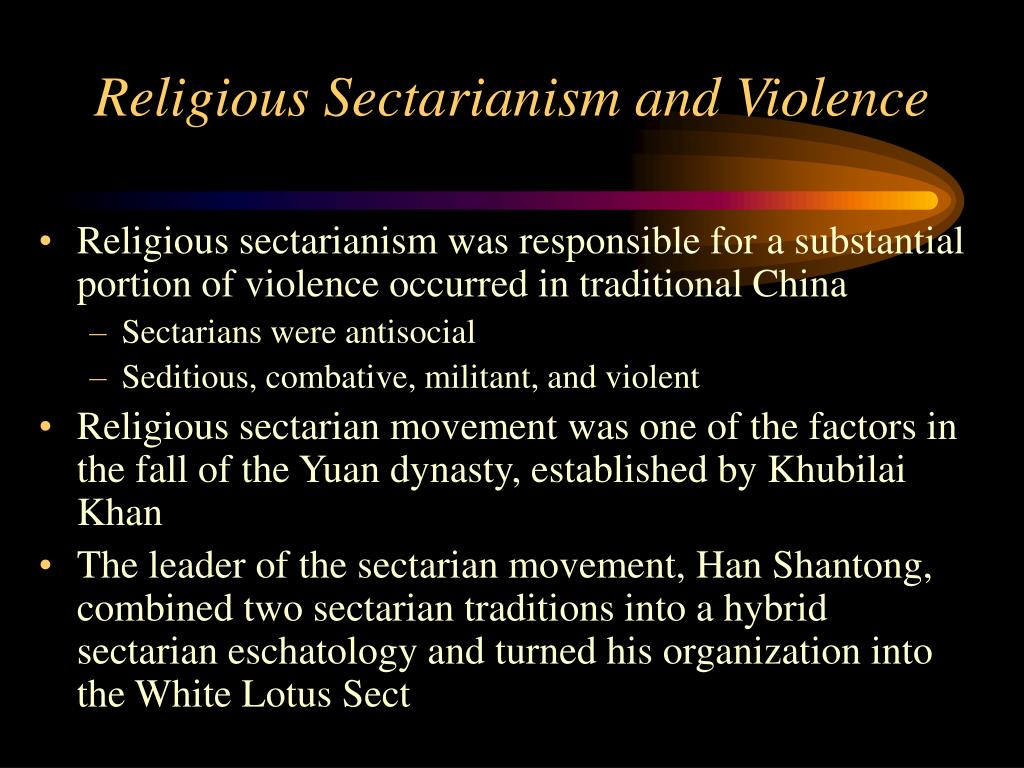 religious sectarianism and violence l.