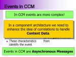 events in ccm