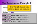 the transformer example 1